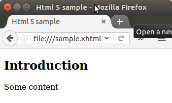 Example 1: HTML 5, pure structure